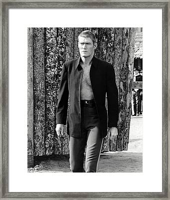 Chuck Connors In Branded  Framed Print by Silver Screen