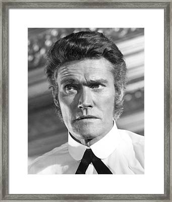 Chuck Connors Framed Print by Silver Screen