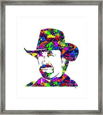 Chuck Norris Paint Splatter Framed Print