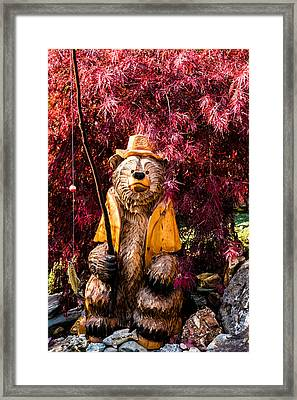 Chuck The Bear Framed Print