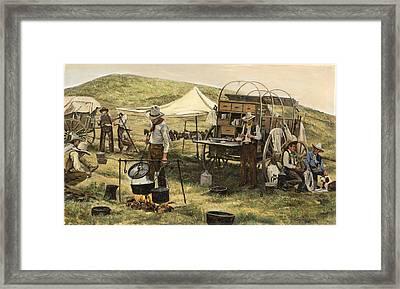 Chuck Wagon Framed Print by Don  Langeneckert