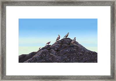 Chuckers - Calling In The Flock Framed Print by Laird Roberts