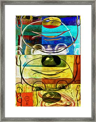 Chuckles The Clown Framed Print by Gregory Dyer