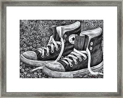 Chucks Framed Print by Deb Mitchell