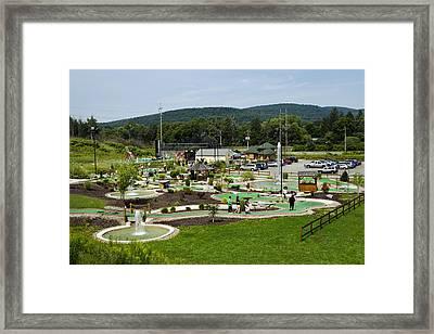 Chuckster's Mini Golf Course Framed Print by Christina Rollo