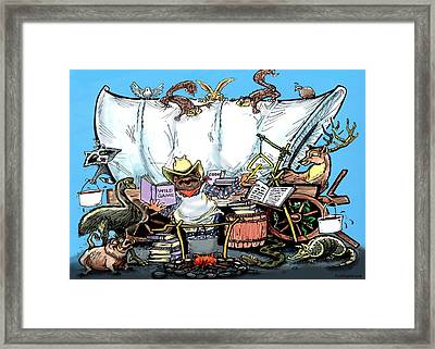Chuckwagon Framed Print by Kevin Middleton