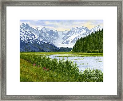 Chugach Glacier View Framed Print by Sharon Freeman
