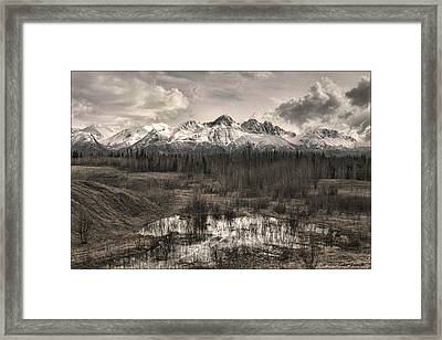 Chugach Mountain Range Framed Print