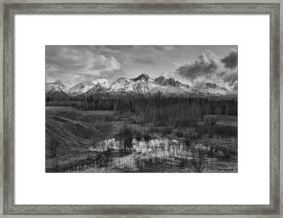 Chugach Mtn Range Framed Print
