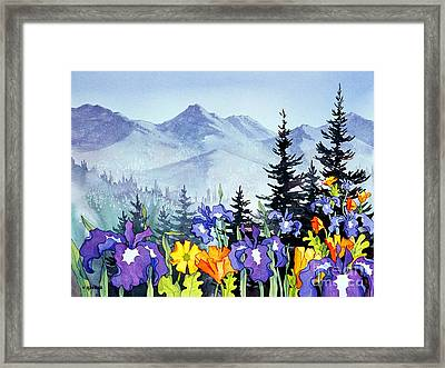 Framed Print featuring the painting Chugach Summer by Teresa Ascone