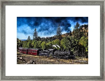 Chugging Along Framed Print by Jim McCain