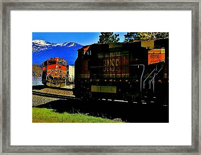 Chugging Past Framed Print by Benjamin Yeager