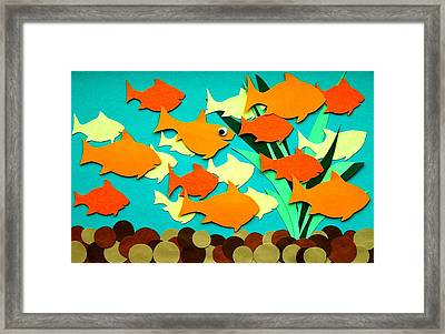 Chums Framed Print by David Pegher