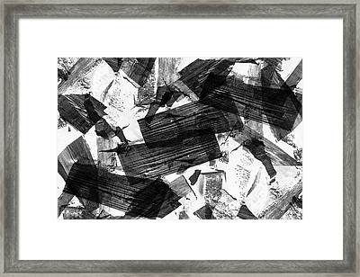 Framed Print featuring the digital art Chunky Abstract Revisited by Chriss Pagani