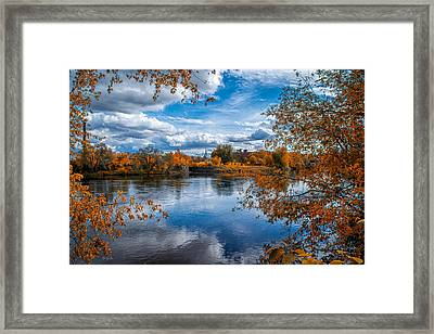 Church Across The River Framed Print by Bob Orsillo