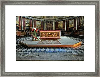 Framed Print featuring the photograph Church Alter Provence France by Dave Mills