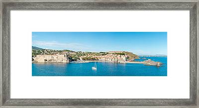 Church And Castle In A Town, Chateau Framed Print by Panoramic Images