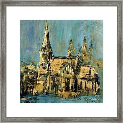 Framed Print featuring the painting Church by Arturas Slapsys