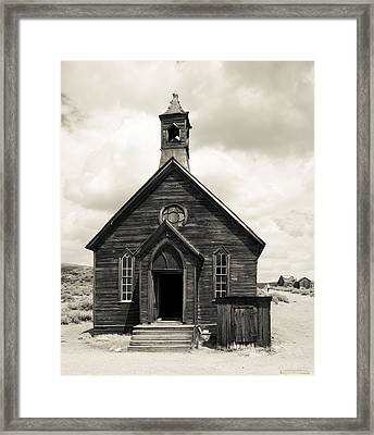 Framed Print featuring the photograph Church At Bodie by Jim Snyder