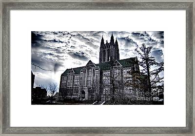 Church At Boston College Framed Print