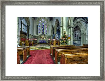 Church At Christmas V3 Framed Print