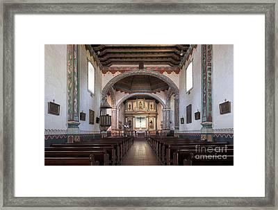 Church At Mission San Luis Rey Framed Print by Sandra Bronstein