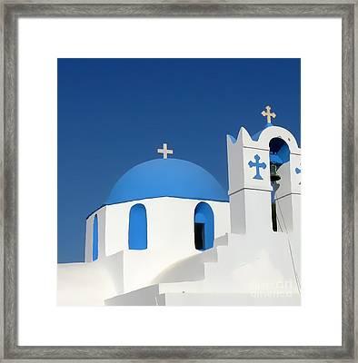Church At Myconos Framed Print by A K Dayton