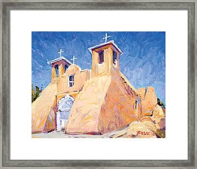 Church At Taos Framed Print