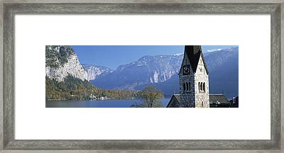 Church At The Lakeside, Hallstatt Framed Print by Panoramic Images