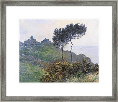 Church At Varengeville Framed Print by Claude Monet