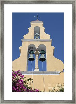 Church Bell Tower Framed Print by Neil Overy