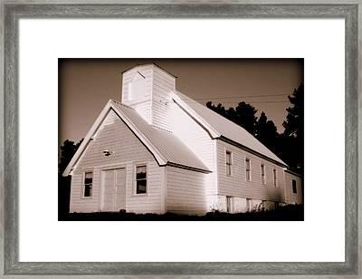 Church Building Framed Print by Kerri Huven