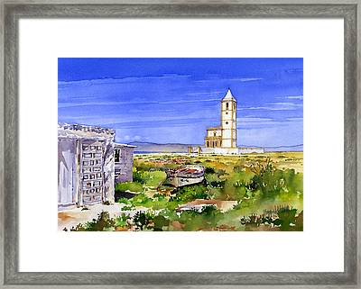 Church By The Salt Flats Framed Print by Margaret Merry
