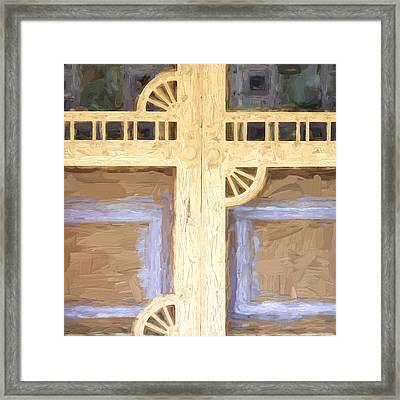 Church Camp House Detail Painterly Series 10 Framed Print by Carol Leigh