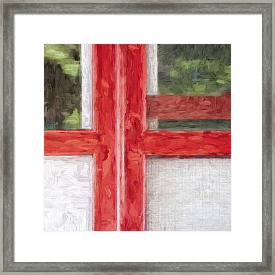 Church Camp House Detail Painterly Series 11 Framed Print by Carol Leigh