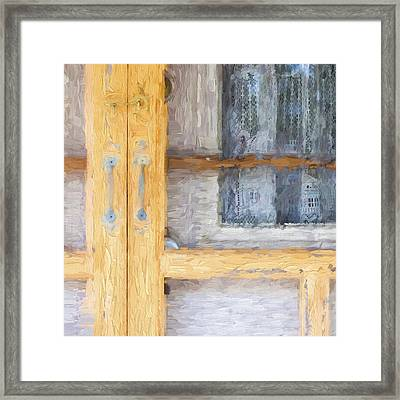 Church Camp House Detail Painterly Series 14 Framed Print