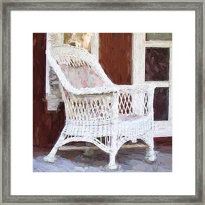 Church Camp House Detail Painterly Series 15 Framed Print by Carol Leigh