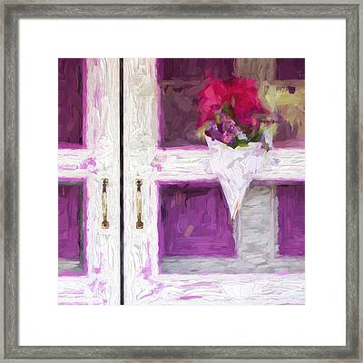 Church Camp House Detail Painterly Series 16 Framed Print