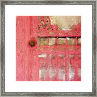 Church Camp House Detail Painterly Series 18 Framed Print by Carol Leigh