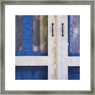 Church Camp House Detail Painterly Series 4 Framed Print by Carol Leigh