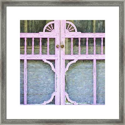 Church Camp House Detail Painterly Series 9 Framed Print by Carol Leigh