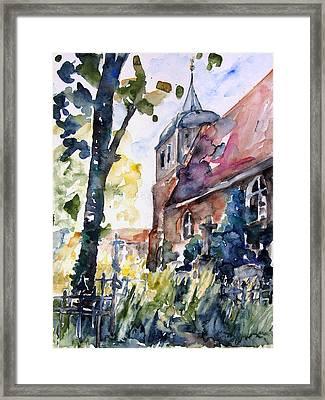 Church Cemetery In Buchholz Framed Print by Barbara Pommerenke