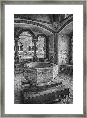 Church Christening Font Framed Print
