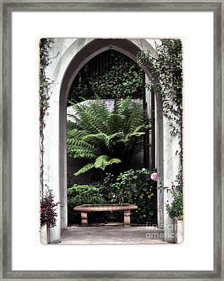 Church Courtyard Framed Print by Kathleen Struckle