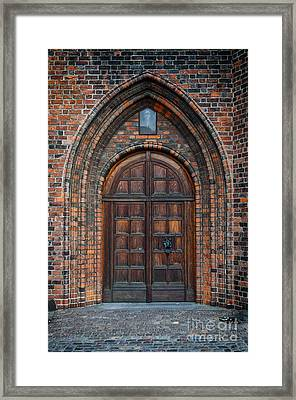 Church Door Framed Print