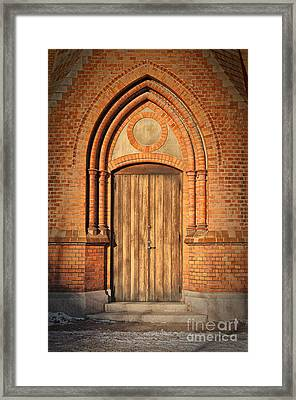 Church Door Helsingborg Framed Print by Antony McAulay