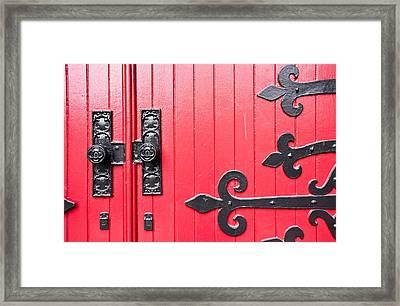 Church Door Framed Print by Niels Nielsen