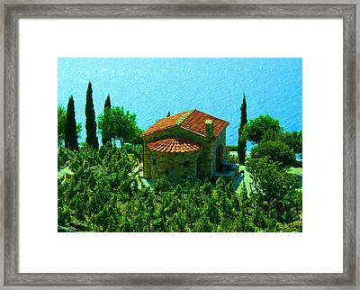 Enchanted Church Between Sea And Nature Framed Print