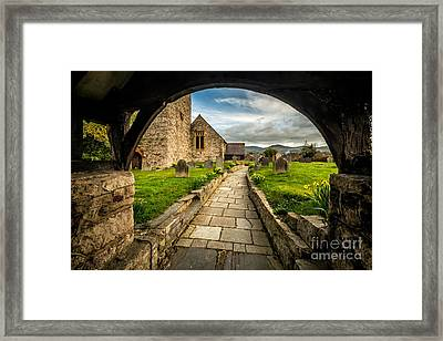 Church Entrance Framed Print by Adrian Evans