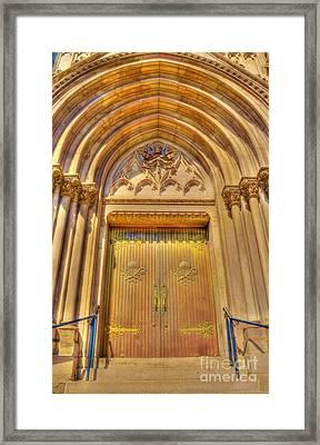 Church Entrance Framed Print by Kathleen Struckle